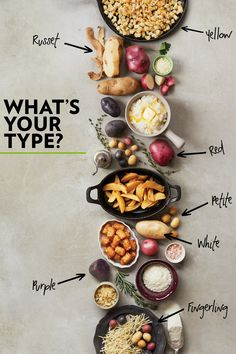 Delicious potato recipes provided by Potatoes USA. Learn why potatoes are the number one side-dish vegetable. Find fast, simple recipes to more advanced potato dishes. Potato Rice, Potato Dishes, Potato Recipes, Rice Side Dishes, Vegetable Side Dishes, Grape Ice Cream, Types Of Potatoes, Potato Types, Crockpot