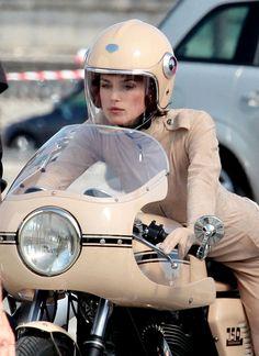 Keira Knightley straddles Ducati for Coco Chanel