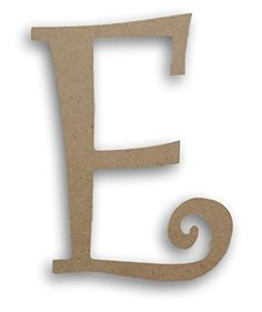 MPI Wood Pressed Wood Initials Wall Decor  75 Curvy E * Continue to the product at the image link.
