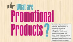 What are promotional products? Practical, entertaining, or decorative products with an imprinted advertiser's name, logo, or message, that is given away.   #promotionalproducts #advertising #branding #marketing