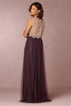 purple bridesmaid separates | Louise Tulle Skirt in antique orchid from BHLDN