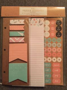 Target Mini Planner Accessories kikki k page flags sticky notes | eBay