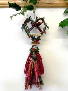 Handmade Yule Goddess Poppet Doll & Blessed Yule Heart by PositivelyPagan