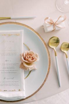 Pastel table setting inspiration Photo: @sarahharrisphoto Rooftop Wedding, Wedding Venues, Table Setting Inspiration, Wedding Inspiration, Four Seasons Seattle, Pastel Wedding Colors, Wedding Bells, Wedding Designs, Got Married