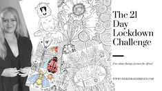 21 days of sheer colour therapy delight and it's all free! Free Coloring, Adult Coloring, Fun Art, Cool Art, Free Books, My Books, Colour Therapy, Bookmark This Page, Baboon