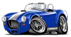 muscle car caricatures | Details about AC Cobra Kit Car Muscle Car Cartoon Tshirt FREE