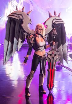 Pentakill Kayle - League of Legends by Kinpatsu-Cosplay.deviantart.com on @DeviantArt - More at https://pinterest.com/supergirlsart #leagueoflegends #lol #cosplay #girl #cosplaygirl