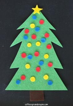 My kids love to decorate and redecorate the Christmas tree so much I decided to make a Christmas tree busy bag that they could play with and decorate!