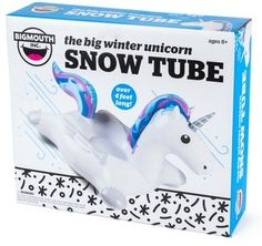 Girl's Bigmouth Inc. Winter Unicorn Inflatable Snow Tube