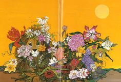 """""""the flower game"""" paintings by fleur #cowles"""