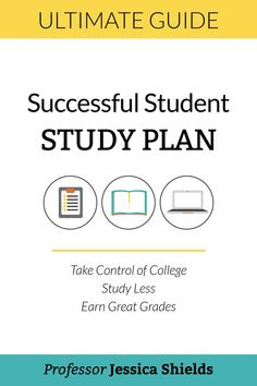 The Successful Student Study Plan: Take Control of College, Study Less, Earn Great Grades by [Shields, Jessica] College Semester, College Fun, College Hacks, College Notes, College Planner, School Notes, Study Skills, Study Tips, Study Hacks