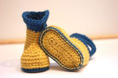 Crochet Baby Rain Boots - Free Pattern
