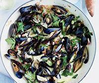 Mussels With Pancetta And Creme Fraiche