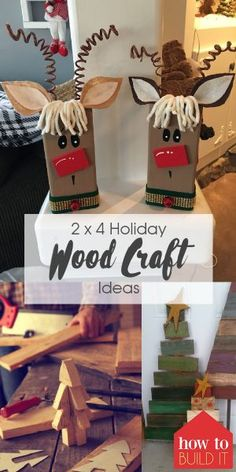 Check out these great holiday wood craft ideas! Make the holidays even more fun with these amazing 2 x 4 holiday wood craft ideas! These craft ideas are super easy to make and will really brighten up your home for the holidays. 2x4 Crafts, Wooden Crafts, Diy Crafts To Sell, Sell Diy, Decor Crafts, Christmas Crafts To Make And Sell, Wooden Christmas Crafts, Christmas Projects, Holiday Crafts