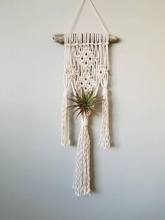 Check out this item in my Etsy shop https://www.etsy.com/ca/listing/565299254/macrame-air-plant-hanger-with-natural