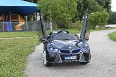 LED Wheels 2016 Sport BMW i8 Style Powered Car For Kids | Black