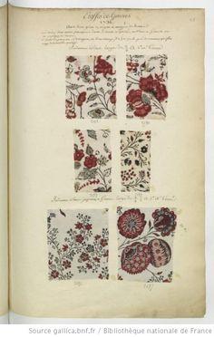Etoffes de Gennes // 1736 // avec les prix en argent et mesure de France : [échantillons de tissus] - 1