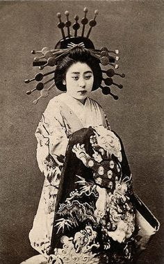 Oiran were the highest ranked prostitutes during Japan's Edo period (early 1600s-mid 1800s)—during which time prostitution was allowed. Considered skilled enough to entertain nobles, oiran often used extremely formal language and utilized elaborate costuming for their entertainment. Since they were able to escape the heavy patriarchal hand that often affected married women, these prostitutes were able to maintain their own power and influence without any hindrance.