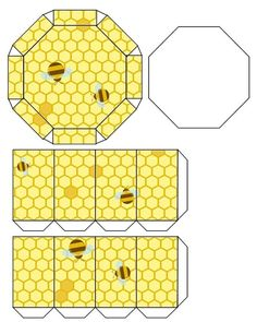 As Busy as a Bee: 13 Ideas for Creativity + Bonus for Needlewomen, фото № 39 Honey Packaging, Diy And Crafts, Paper Crafts, Bee Boxes, Bee Cards, How To Make Pillows, Bee Happy, Bees Knees, Printing Labels
