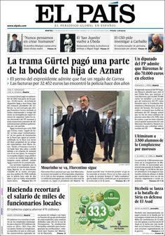 Los Titulares y Portadas de Noticias Destacadas Españolas del 21 de Mayo de 2013 del Diario El País ¿Que le parecio esta Portada de este Diario Español?