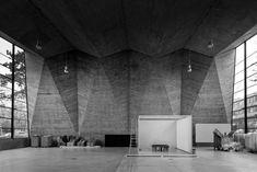 Basel College of Art and Design  Maurer Halle, in the former General Trade School - by Hermann Baur, 1961