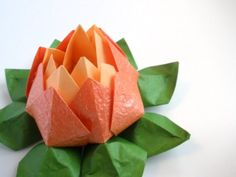Décoration de table origami Lotus - JuuniOrigami sur Etsy.com
