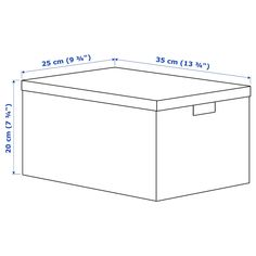 """TJENA Storage box with lid, white, 9 ¾"""". This box is just right for paper, keepsakes or accessories, and durable enough for everyday use. Choose a color you like – keep it the way it is or be creative and design your own look. Raw Materials, Recycled Materials, Recycling Process, Storage Boxes With Lids, Ikea Family, Waste Paper, Flower Lights, Empty Spaces, Box With Lid"""