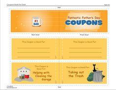 Fun Father's Day Coupons (Printable Activity for Kids) | Gift Printables for Father's Day -- Kid's Printables | FamilyFun