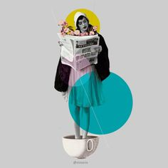 """""""news int the morning"""" Art by Design SNS – Sinais Velasco on Surreal Collage, Collage Artwork, Surreal Art, Collages, Graphic Design Trends, Graphic Design Posters, Graphic Design Inspiration, Collage Illustration, Illustrations"""