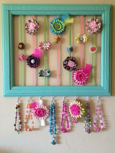 Hair clip storage for my little girlI desperately need this for