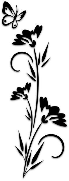 Flowers – Silhouettes – Art & Islamic Graphics