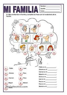 Family Tree Worksheet Printable Lovely A Printable Activity to Practice Spanish Family Vocabulary Spanish Worksheets, Spanish Teaching Resources, Spanish Vocabulary, Spanish Activities, Spanish Language Learning, Language Lessons, Spanish Lessons For Kids, Spanish Basics, Spanish Lesson Plans