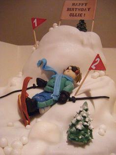 Skier cake..