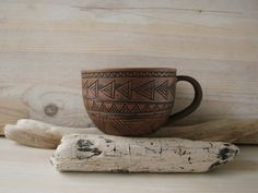 """artpockets: """" Hand Made Ceramic Eco-Friendly Tea Cup  """""""