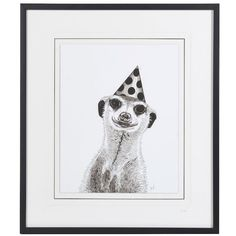 Meerkat with Hat Framed Picture ($225) ❤ liked on Polyvore featuring home, home decor, wall art, fillers, framed wall art, framed picture and hat picture