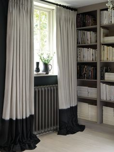 Traviata Fabric Collection by Clarke &Clarke offers a striking selection of Mediterranean inspired designs. Beautiful Curtains, Cool Curtains, Lined Curtains, Curtains With Blinds, Window Drapes, Curtain Weights, Rideaux Design, Curtain Headings, Curtain Store