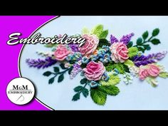 Embroidery: Flowers Stitches : very simple stitches and very beautiful embroidery 👍 fabric: gabardine or linen, polyester, cotton thread: DMC or Anchor (mela. Hand Embroidery Flower Designs, Basic Embroidery Stitches, Hand Embroidery Videos, Hand Embroidery Tutorial, Simple Embroidery, Learn Embroidery, Japanese Embroidery, Embroidery For Beginners, Hand Embroidery Patterns