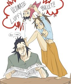 I really want Luffy's mom to be as silly as her son