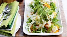 Fennel, rocket and orange salad Fennel Recipes, Wine Recipes, Low Carb Recipes, Salad Recipes, Cooking Recipes, Fennel And Orange Salad, Fennel Salad, Delicious Vegan Recipes, Healthy Recipes