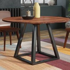 19a78775aabf Gracie Oaks T.J. Solid Wood Dining Table   Reviews