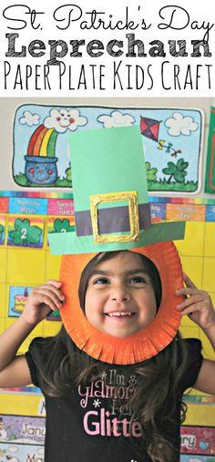 Celebrate St. Patrick's Day with this fun Leprechaun Kids Craft. It's the perfect St. Patrick's Day Craft for the kiddos to celebrate the luck of the Irish! - simplytodaylife.com #stpatricksdaycrafts #kidscrafts #stpatricksdayleprechaun Fun Arts And Crafts, St Patrick's Day Crafts, Crafts For Boys, Craft Projects For Kids, Diy For Kids, St Patricks Day Crafts For Kids, Holiday Crafts For Kids, Fun Crafts, Holiday Fun