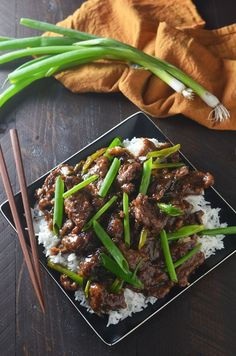 Mongolian Beef! Make the takeout dish at home with this easy, lighter, and tasty recipe!   hostthetoast.com