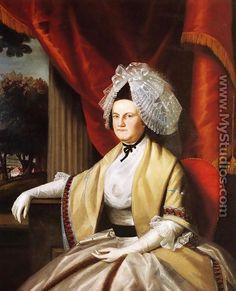 1789 Mrs. Oliver Wolcott (Laura Collins).Artist Ralph Earl (American)