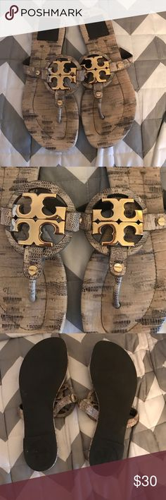 Tory burch sandals snake skin size 6 Tory BUrch snake skin sandals Tory Burch Shoes Sandals