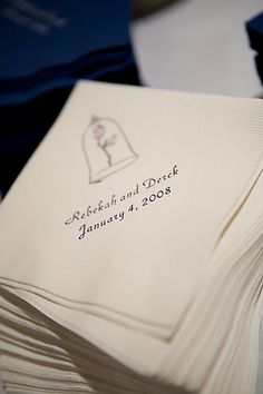 beauty and the beast wedding theme - napkins