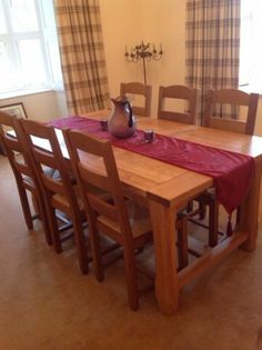 Buy Olney Pine Dining Table and 6 Upholstered Chairs at Argos