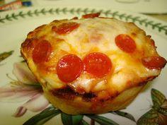 pizza in a muffin tin