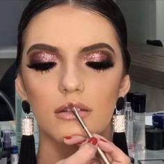 Basic Eye Makeup, Creative Eye Makeup, Smoky Eye Makeup, Makeup Eye Looks, Glitter Eye Makeup, Colorful Eye Makeup, Bridal Eye Makeup, Wedding Makeup, Hooded Eye Makeup Tutorial