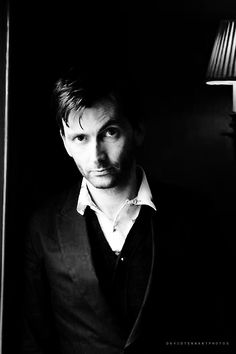 David Tennant handsome in black and white (and color and green and blue and sky blue purple...any thing!)