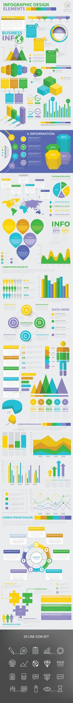 Modern Infographic elements design template - Infographics Template Vector EPS, AI Illustrator. Download here: https://graphicriver.net/item/modern-infographic-elements-design/16889486?s_rank=42&ref=yinkira